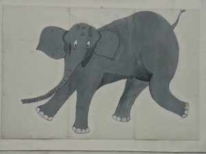 Bild des Elefanten an der Unglücksstelle