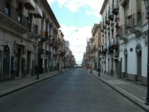 Bild der Via Garibald in Adrano in Sizilien